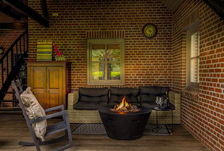 Heerlijk tot rust komen op de veranda